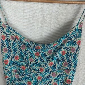 Diane Von Furstenberg Dresses - DVF Bright Floral & Leaf Jersey Silk Midi Dress 6